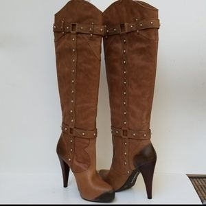 GIANNI BINI over the knee boots size 8.5M